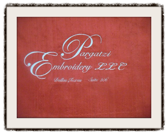 Pargatzi Embroidery Monograms and Logo's